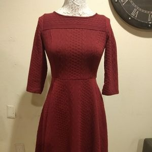 ModCloth Red Knit Sweater Dress